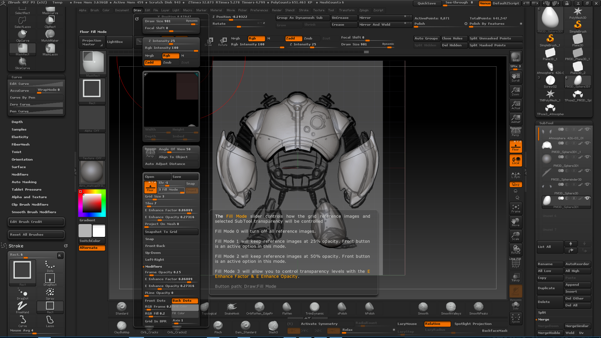 Zbrush Active Subtool Transparency — polycount