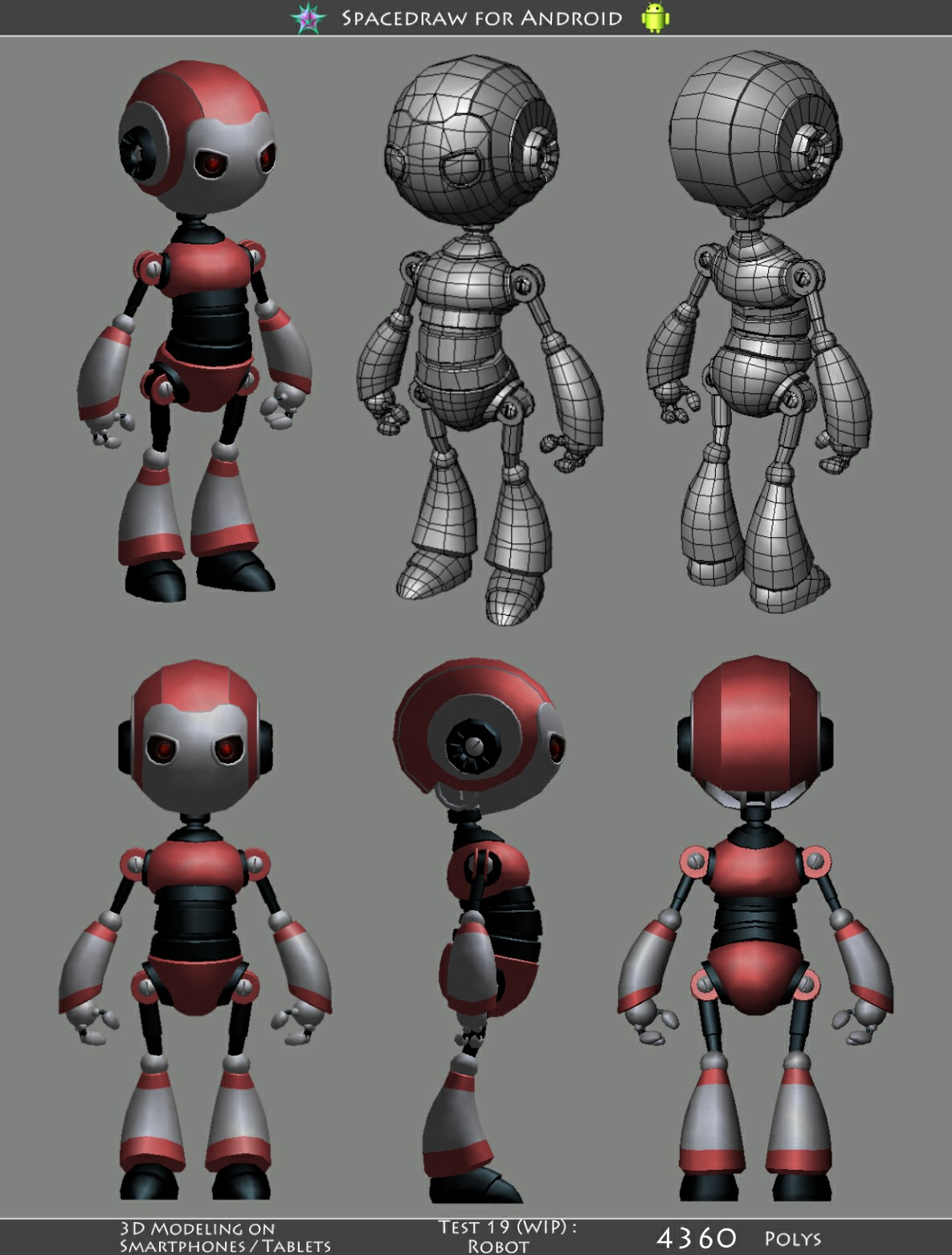 First full featured 3d modeling software for android tablets polycount robotv23g malvernweather Images